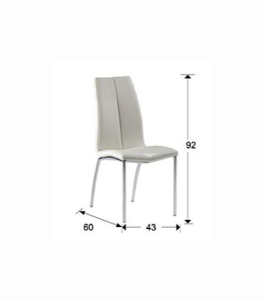 Medidas silla MALIBU blanco de Schuller