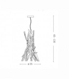 Medidas lámpara DRIFTWOOD SP1 de Ideal Lux