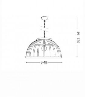 Medidas lámpara colgante CESTO SP1 de Ideal Lux