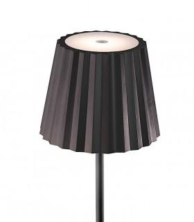 Detalle de pantalla. Lámpara Pie Exterior Recargable K2 Negro 7101 Mantra