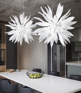 Lámpara colgante LEAVES SP12 blanco de Ideal Lux