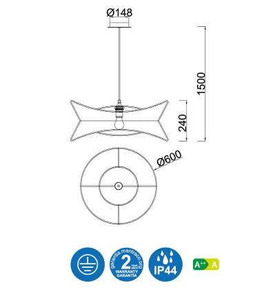 Características Lámpara techo POLINESIA 7130 Mantra