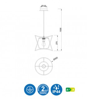 Características Lámpara techo POLINESIA 7131 Ø30 Mantra