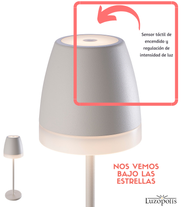 Sensor ON-OFF, regulador intensidad de luz. K3 Blanco 7116 Mantra