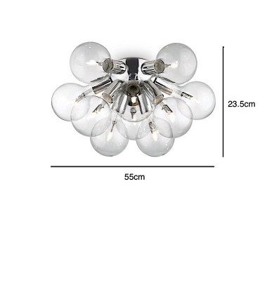 Medidas Plafón de techo DEA PL10 de Ideal Lux