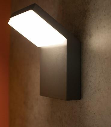 Aplique Exterior Alpine Negro LED IP65 7045 Mantra
