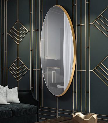 Espejo ARIES oval 80x170 oro de Schuller 119573