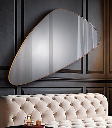 Espejo ORIO triangular oro 168x81 de Schuller 127646