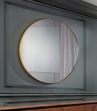 Espejo ORIO redondo 120 oro de Schuller 127509