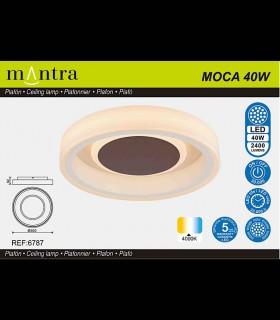 Portada caja Plafón MOCA 40w LED 6787 Mantra