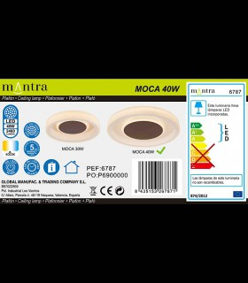 Trasera caja: Plafón MOCA 40w LED 6787 Mantra