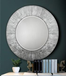 Espejo redondo AURORA plata - Schuller