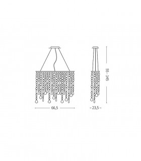 Medidas lámpara RAIN SP5 Color de Ideal Lux