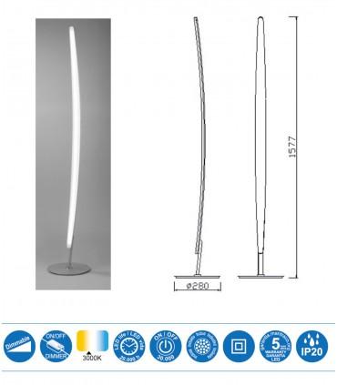 Características Lámpara de pie Mantra HEMISFERIC 4086 20w