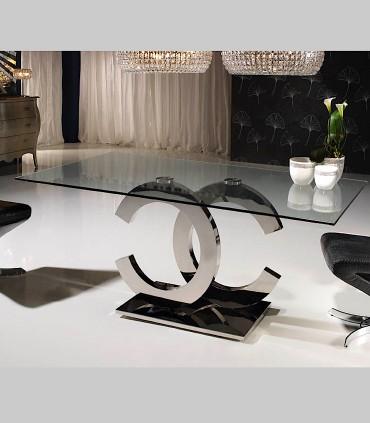 Mesa comedor CALIMA acero 160 cm de Schuller
