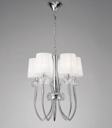 Lámpara LOEWE 5L E14 4632 cromo c/pantalla Mantra
