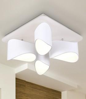 Plafón 4 luces led LIDIA blanco - Schuller