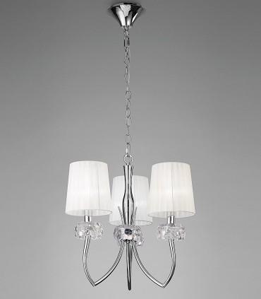 Lámpara LOEWE 3L E14 4633 cromo c/pantalla Mantra