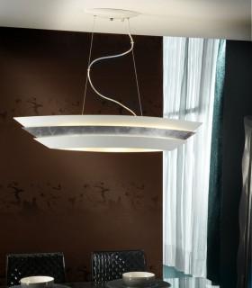 Lámpara ISIS 3 luces blanco plata - Schuller