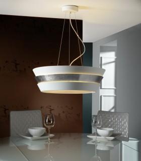 Lámpara ISIS 6 luces blanco plata - Schuller
