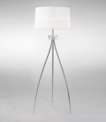 Lámpara de pie LOEWE 3L E27 4638 cromo c/pantalla Mantra