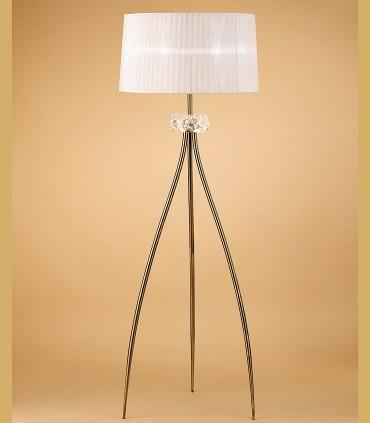 Lámpara de pie LOEWE 3L E27 4738 Cuero c/pantalla Mantra