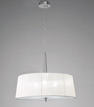 Lámpara de techo LOEWE 3L E27 4639 cromo c/pantalla Mantra