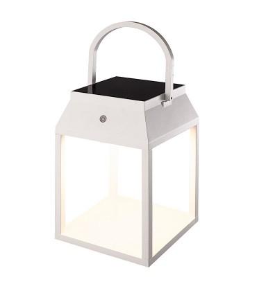 Lámpara sobremesa solar SAPPORO Blanco exterior 7091 Mantra