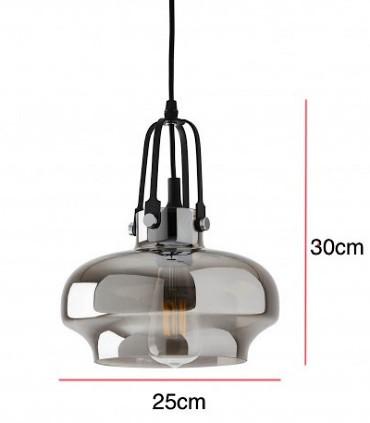 Medidas: Lámpara de techo TOUS smoke Ø25
