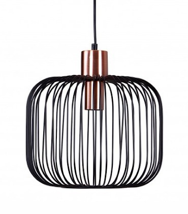 Lámpara de techo ROSELL negro-cobre Ø30