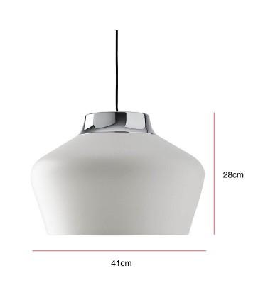 Medidas: Lámpara de techo RAFOL Blanco Ø41cm