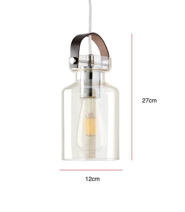 Medidas Lámpara de techo JANA Champagne Ø12cm