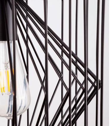 Detalle Lámpara de techo Toga negro Ø30cm