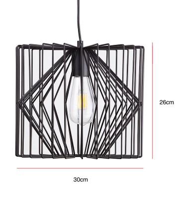 Medidas Lámpara de techo Toga negro Ø30cm