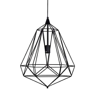 Lámpara de techo TIRIG trapezoidal negro Ø45cm