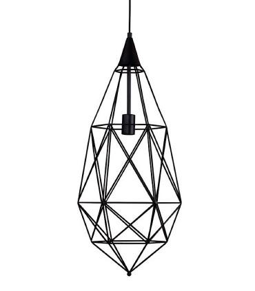 Lámpara de techo TORAS geométrica negro Ø33cm