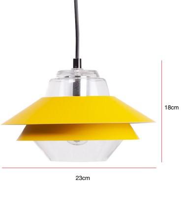 Medidas Lámpara de techo POLA Ø23cm mostaza
