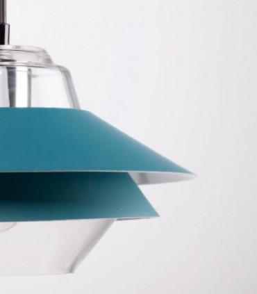 Detalle Lámpara de techo POLA azul Ø23cm