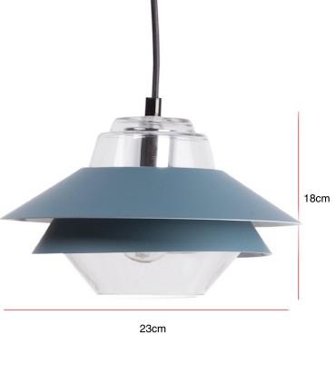 Medidas Lámpara de techo POLA azul Ø23cm