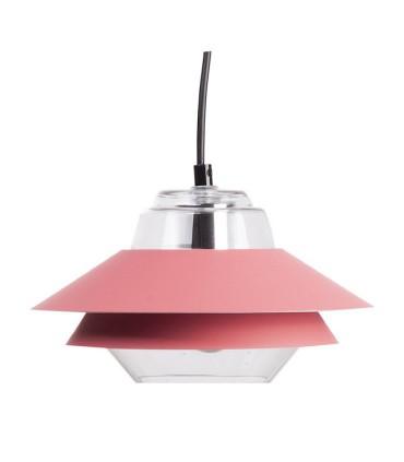 Lámpara de techo POLA rojo rose Ø23cm