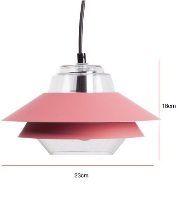 Medidas Lámpara de techo POLA rojo rose Ø23cm