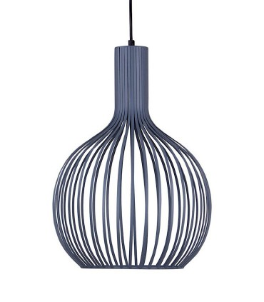 Lámpara de techo Con 1 luz CALIG gris Ø35cm