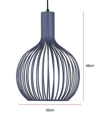 Medidas Lámpara de techo Con 1 luz CALIG gris Ø35cm