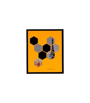 Cuadro HEXAGONOS 25x30 negro