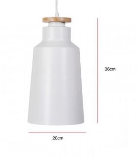 Medidas Lámpara de techo ALCORA blanco Ø20cm