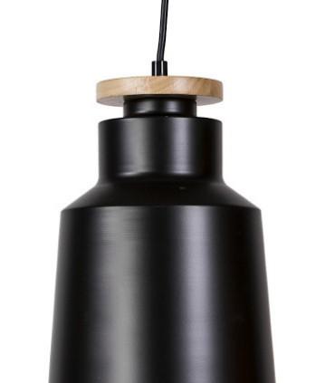 Detalle Lámpara de techo colgante 1 luz ALCORA negro Ø20cm