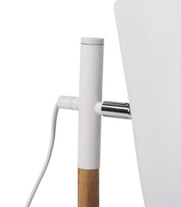Detalle Lámpara de sobremesa DEVA blanco-madera Somcasa