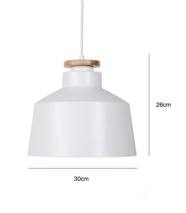 Medidas Lámpara de techo ARTANA blanco Ø30cm