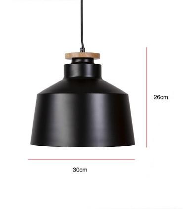 Medidas Lámpara de techo ARTANA negro Ø30cm