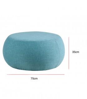 Medidas Puff ALAN tela azul ø75cm Somcasa